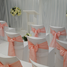 Chair Sashes Decoration Knot-Cover TOP Fabric Satin Event Party Banquet Wedding for 1PC