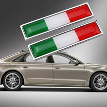 2021 New 56mmx13mm National Flag Emblem DIY Metal Car Sticker Car Styling - Italy Self Adhesive Waterproof Car Sticker #PY10
