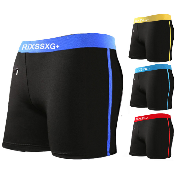 Cross Border Men AussieBum Sports Shorts Beach Shorts Fashion With Zipper Quick-Dry Hot Springs Swimming Trunks Men's