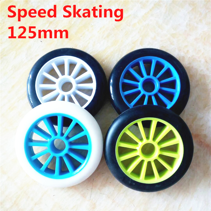 Universal 125mm Skating Wheel For Scooter Wheel And 3*125mm Inline Speed Skates Wheel 86A Hardness Using 608 Bearing 2 Pcs/lot