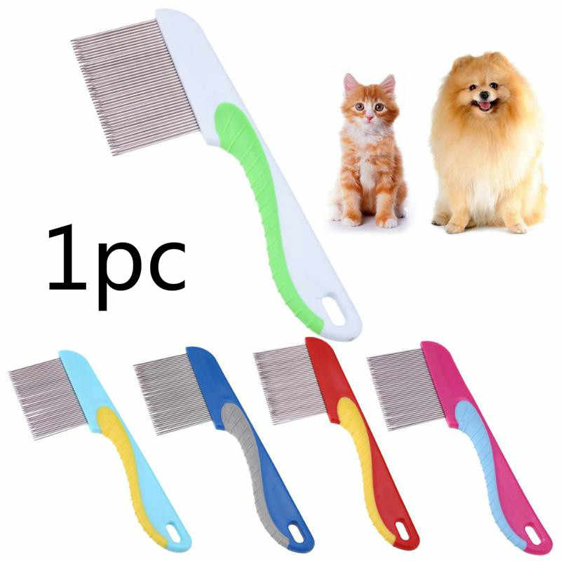 Home Pet Animal Care Comb Protect Flea Comb for Cat Dog Pet Stainless Steel Comfort Flea Hair Grooming Comb @05
