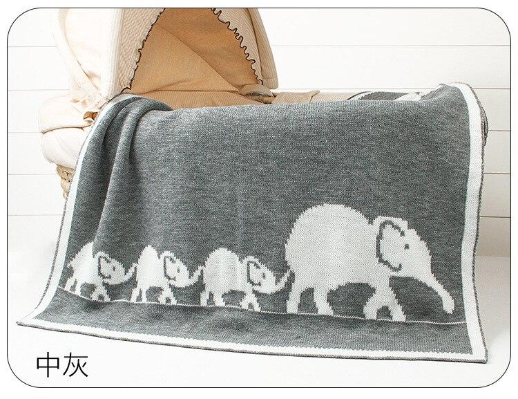 miúdo elefante dos desenhos animados infantil da criança cama swaddling