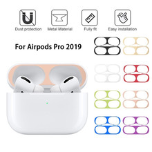 Ultra Thin Metal Dust Proof Guard for Apple Airpods Pro Earphone Skin Protection Sticker for Airpodspro Air Pods 3 Cover Case(China)