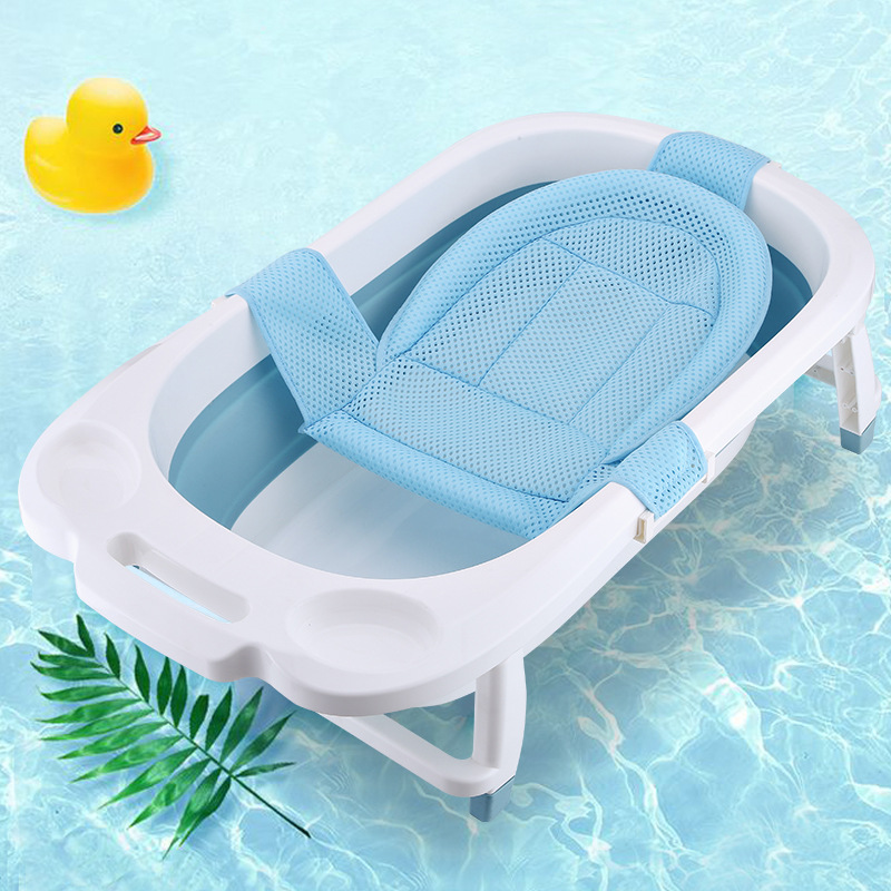 Newborn Infant Baby Bath Tub Cushion Non-Slip Bathtub Mat Baby Shower Portable Air Support Cushion Bed Babies Safety Bath Seat