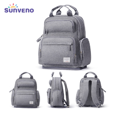 Sunveno Large Capacity Diaper Bag Fashion Maternity Baby Bag Backpack Stylish Stroller Baby Diaper Bag For Mom