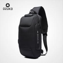 OZUKO 2019 New Multifunction Crossbody Bag for Men Anti-thef