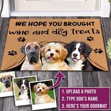 Пользовательский дверной коврик, персонализированные подарки с именем питомца, собаки, кошки, фото, нет необходимости в ударах, мы знаем, чт...