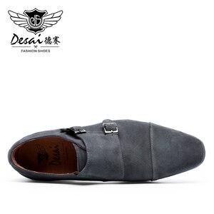 Image 4 - Desai ブランド本物の牛革紳士靴冬のカジュアルシューズ男性ドイツフォーマル高級リアルカスタムメーカー