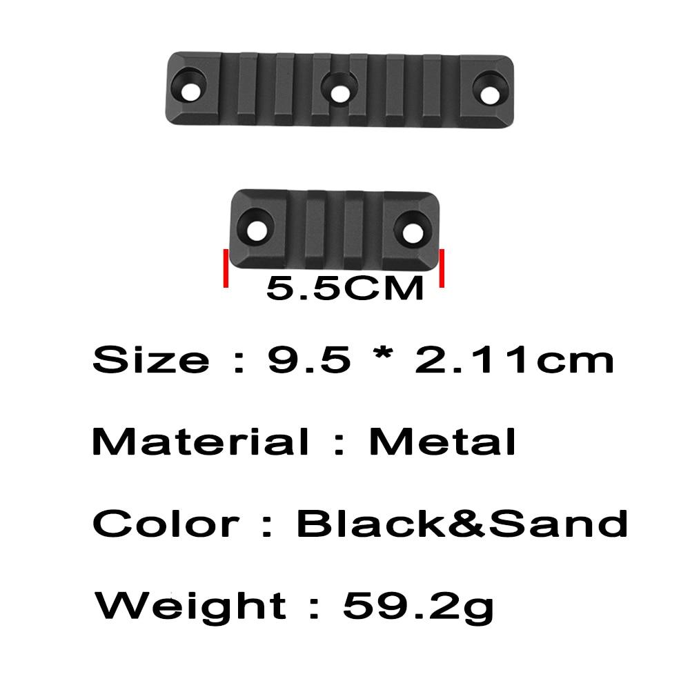 3 Piece Aluminum Set 3/7 Slot For SMR 416 Gel Blaster Handguard Rail For Picatinny Rail Mount Handguard Section Accessories