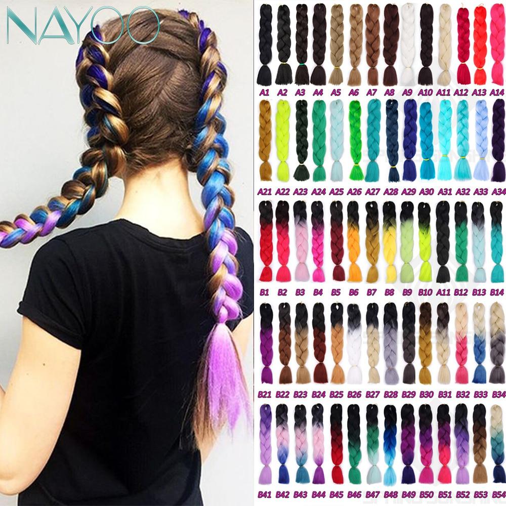 Nayoo Synthetic Hair Jumbo Crochet Braids 24
