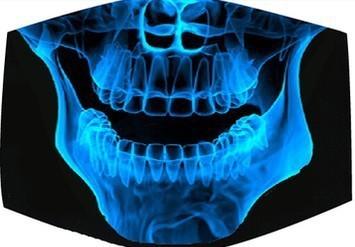 1PCS Funny Teeth Letter Mouth Anime Cotton Dustproof Mouth Face Mask Black Unisex Cartoon Masks Black Cotton Half Face Mask