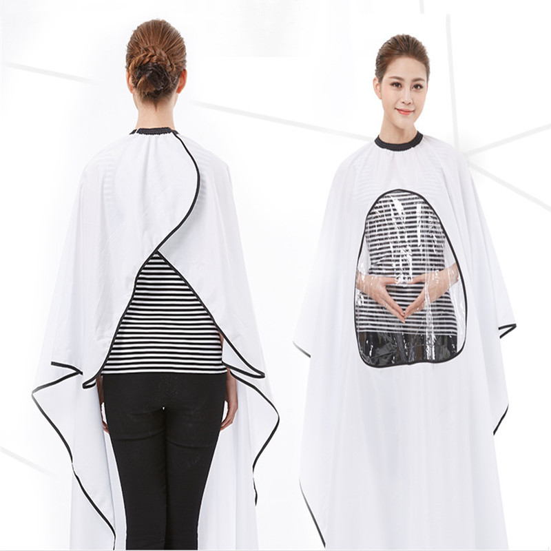 1PC Pro Salon Barber Hair Cutting Gown Cape With Viewing Window Hairdresser Wrap Apron