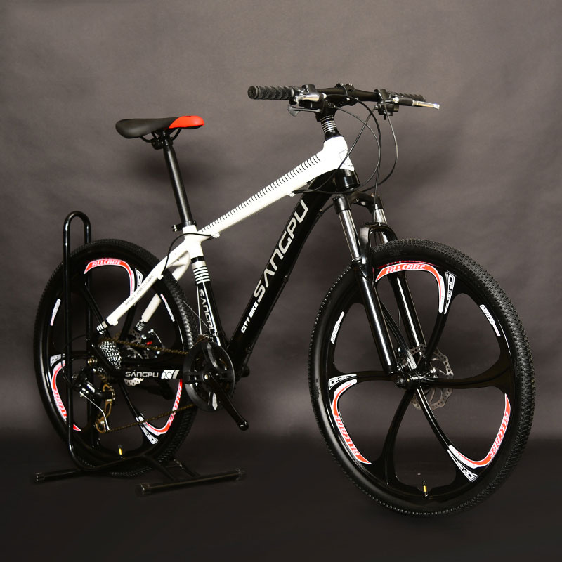 Mountain Bike Aluminum Alloy 26 Inch Shifting One Wheel 6 Knife Double Disc Brakes For Men And Women Bicycle Students