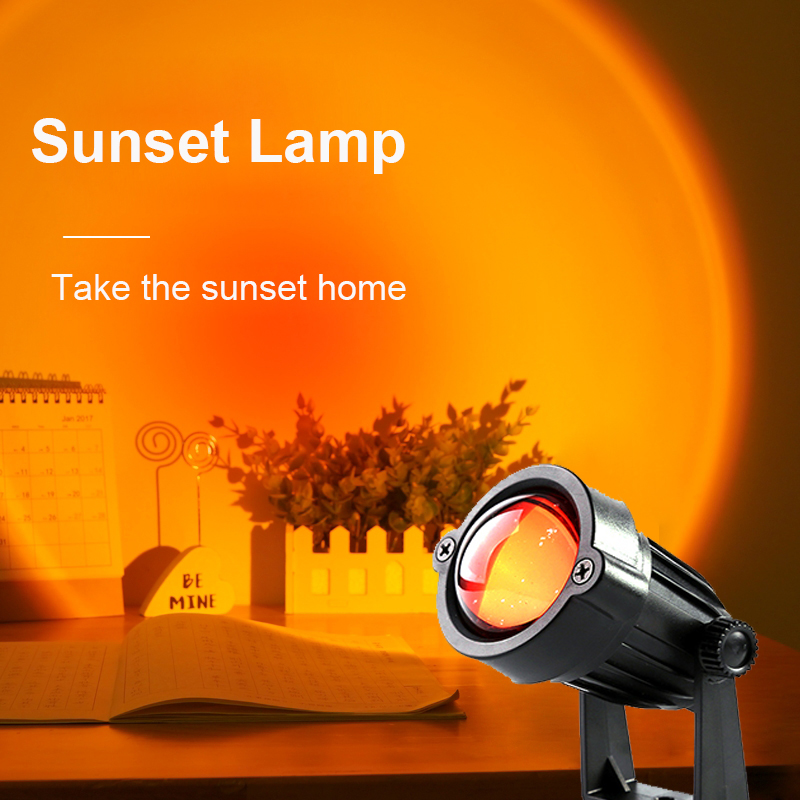 Лампа с радужным закатом, светодиодный ночсветильник для спальни, бара, кофейни, магазина, декоративсветильник щение для стен