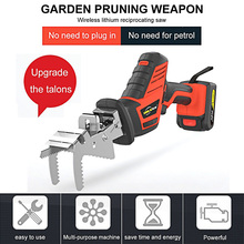 Hand Electric Saw Reciprocating Saw Tools Wood Metal Cutting Machine Multifunction DIY Cordless Power Tool LED with 6pcs Blades doersupp 220v 650w electric scroll sweep saw 500 3000r min power tool for wood metal cutting tool universal electric saw