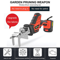 Hand Electric Saw Reciprocating Saw Tools Wood Metal Cutting Machine Multifunction DIY Cordless Power Tool LED with 6pcs Blades