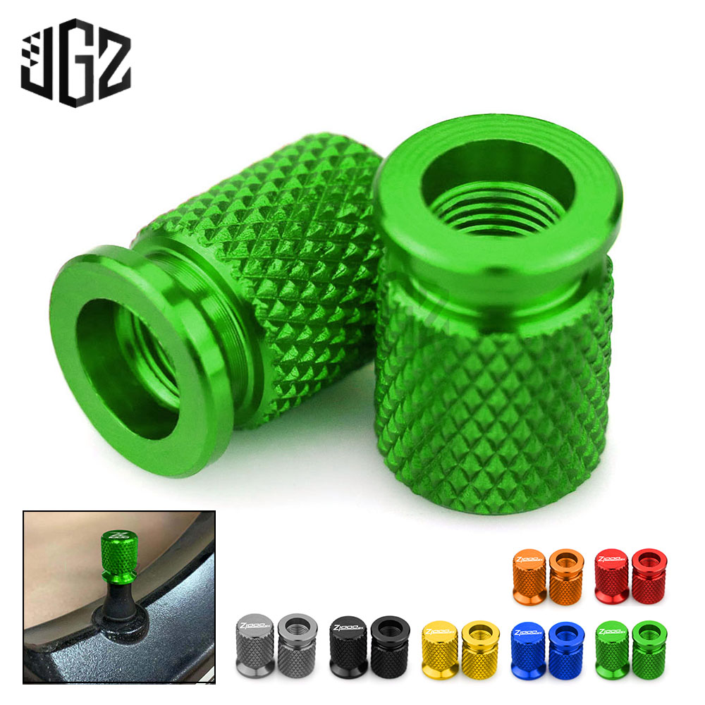 Motorcycle Tires Gas Nozzle Cover Valve Core Cap Aerated Mouth Cup For Kawasaki Z650 Z750 Z800 Z900 <font><b>Z1000SX</b></font> <font><b>2016</b></font> 2017 2018 2019 image