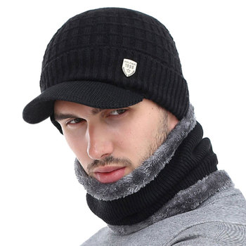 AETRUE Winter Hat Skullies Beanies Hats Winter Beanies For Men Women Wool Scarf Caps Balaclava Mask Gorras Bonnet Knitted Hat