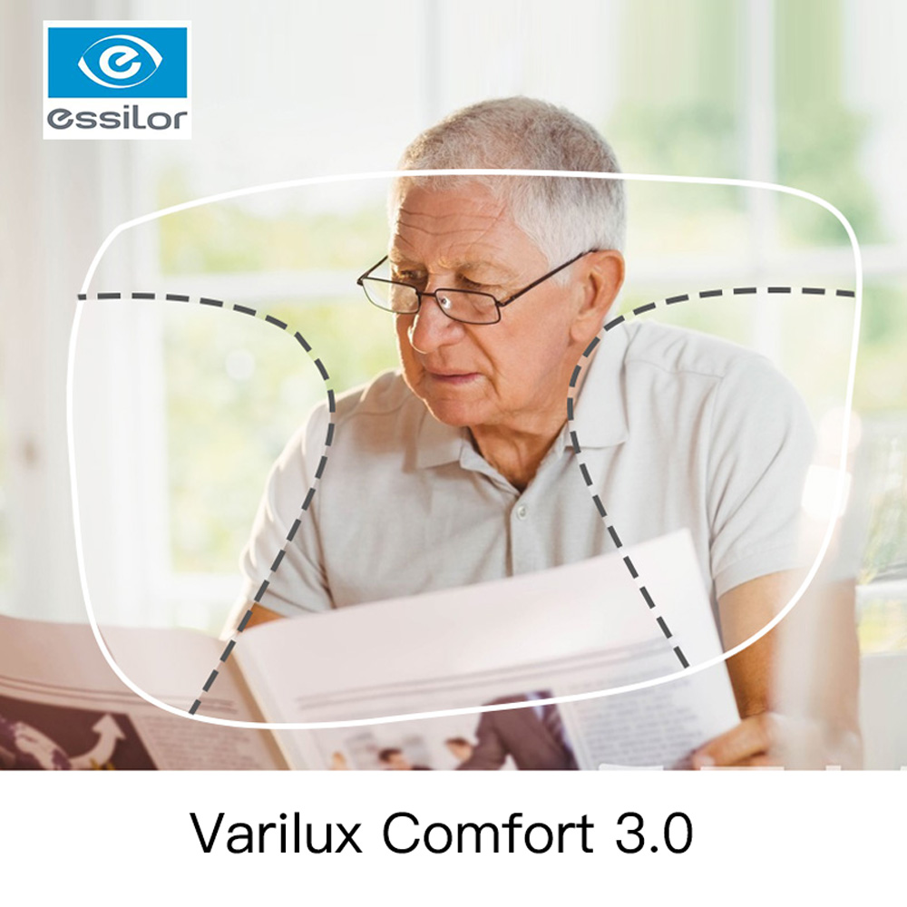 Essilor Varilux Comfort 3.0 Prescription Progressive Lenses 1.56 1.59 1.60 1.67 Photochromic Multifocal Lenses