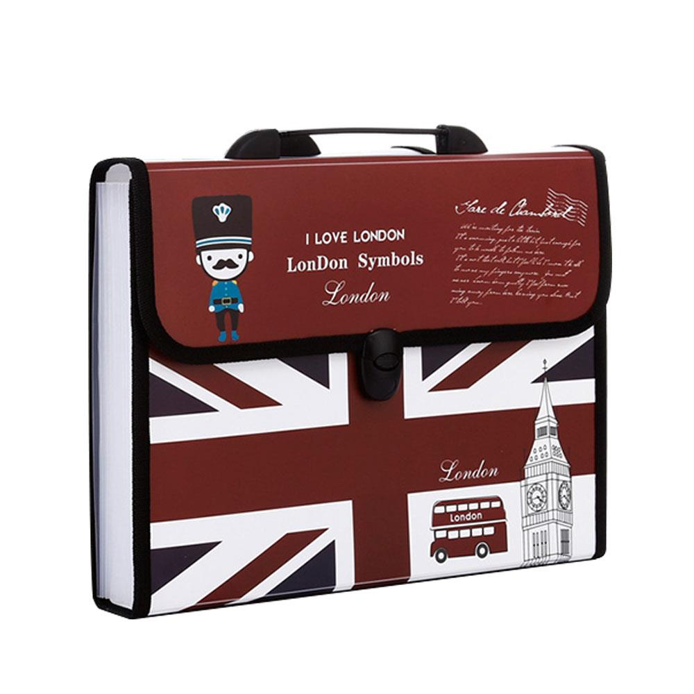 Expanding File Folder A4 Paper Filing Portable File Organiser Manager 12 Pockets Multifunctional Stationery A4 File Bags