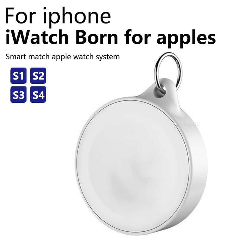 Keychain Magnetic Wireless Charger Qi Charging Dock Station for Apple Watch Iwatch 4 3 2 Magnet Chargeur Induction Oplaadstation(China)