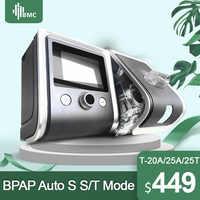 BMC GII BPAP T-20A/25A/25 T Bilevel thérapie CPAP apnée mpoc avec oxymètre de pouls du bout des doigts SpO2 kit masque facial complet tuyau humidificateur