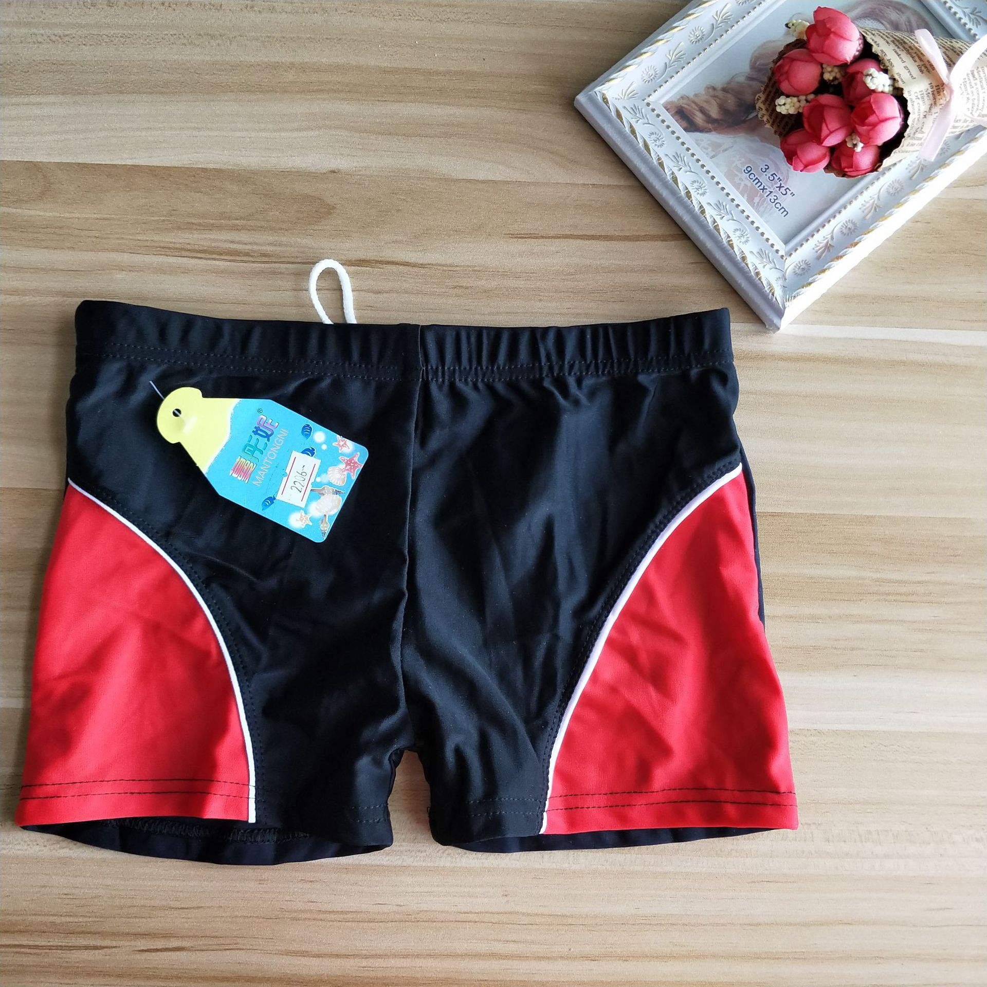 KID'S Swimwear BOY'S Swimming Trunks Big Virgin Boy Quick-Dry Boxer Swimming Trunks