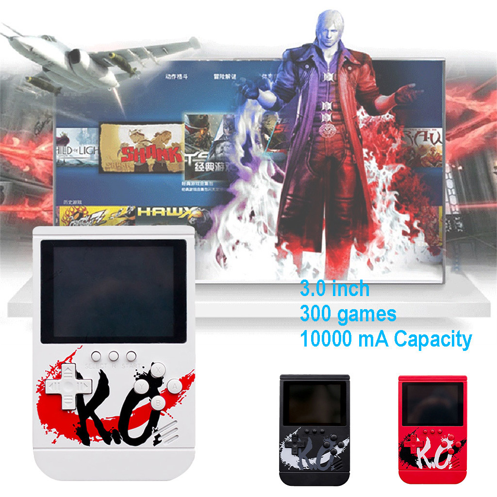 Capacity Portable Game Console With 3.0 inch 300 games Power Bank Portable USB  controller gamepad 2019 NEW children gift#G20