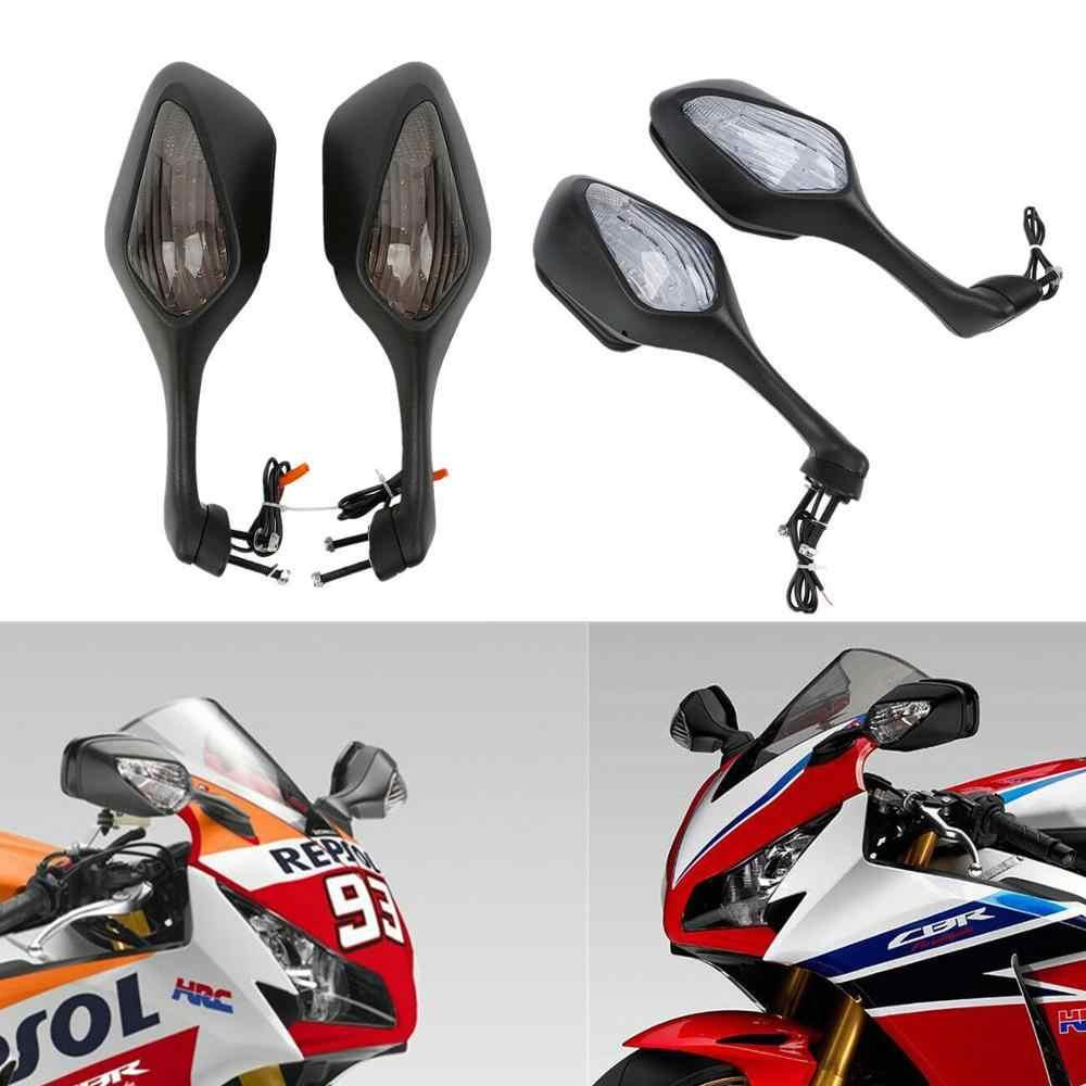 Зеркало для мотоцикла, зеркала заднего вида, интегрированные светодиодные указатели поворота для Honda CBR 1000 RR 1000RR CBR1000RR 2008-2012 2009, аксессуары