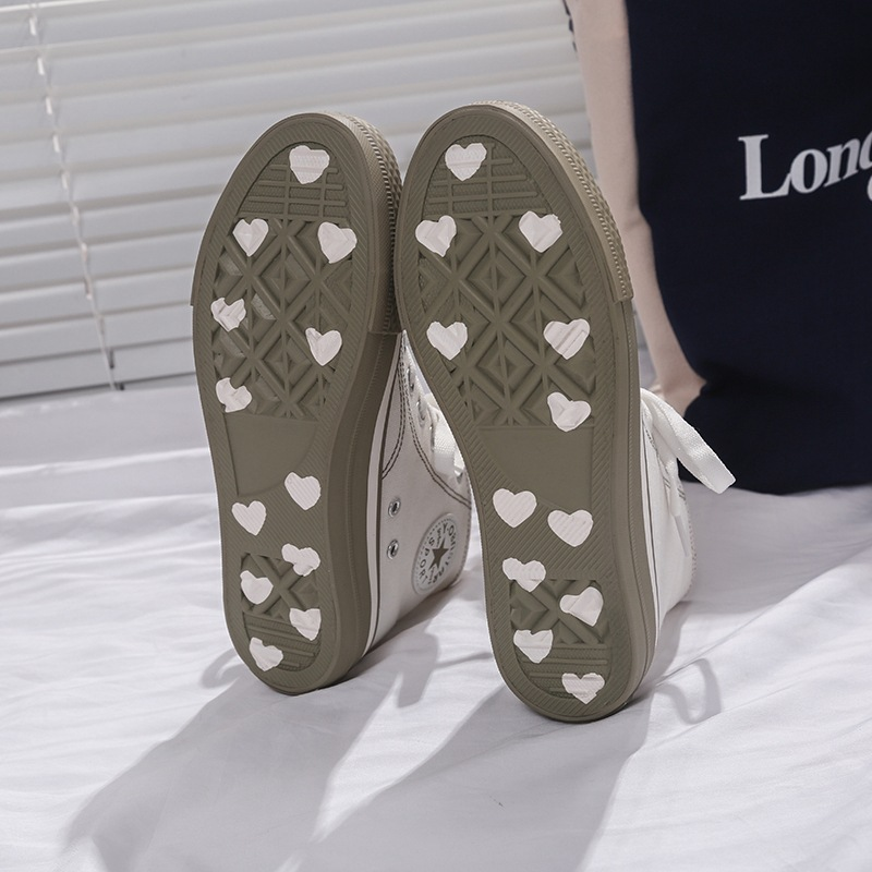 2019 Spring Hight-top Canvas Shoes Student Korean-style WOMEN'S Shoes Harajuku Ulzzang Versatile Shoes Flat Cloth Shoes