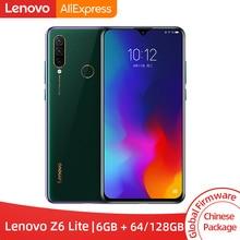 Смартфон lenovo Z6 Lite с глобальной прошивкой, 6 ГБ, 64 ГБ, Восьмиядерный процессор Snapdragon 710, трехъядерный, задняя камера 19,5: 9, капля воды, 6,3 дюйма, 4050 мА · ч