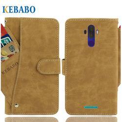 На Алиэкспресс купить чехол для смартфона leather wallet haier i6 infinity case 6.1дюйм. flip retro luxury front card slots cases cover business magnetic phone bags