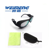 Weimeng 400nm 700nm OD5+ safety IPL laser protective goggles for Photon beauty & photon skin renewal & red blood removal
