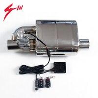76mm Exhaust Valve Muffler Electric Valve Silencer Right Left Electric Exhaust Cutout Sounds Muffler