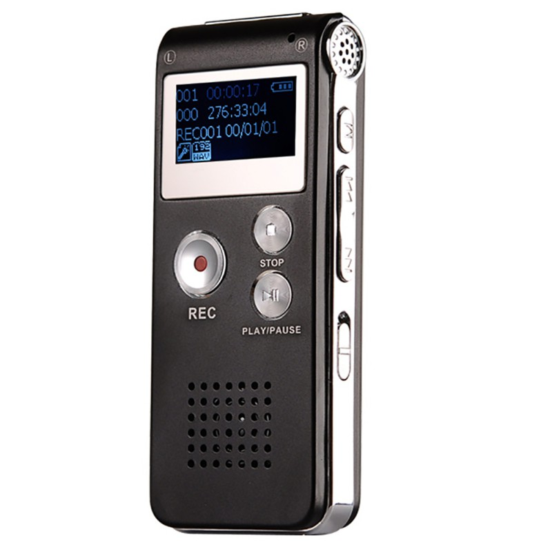 8GB Voice Recorder MP3 Player USB Professional Dictaphone Digital Audio Voice Record With MicroPhone For Meeting Speech
