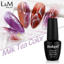 ibdgel 3pcs Translucent Gel Varnish Lacquer Jelly Semi Transparent Nail Gel Amber Hybrid Nails UV Led Nails Polish Varnishes