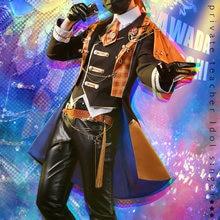 Hitman Reborn! Sawada tsunayoshi cosplay traje vongola idol grupo uniforme terno masculino desempenho de palco/festa papel jogar roupas