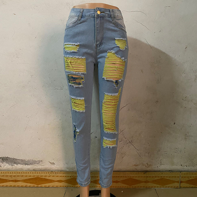 Dilusoo Women High Waist Straight Jeans Pant Holes Streetwear Fashion Female Denim Jeans Woman Ripped Casual Jeans Ladies 2020 Uncategorized Fashion & Designs Women's Fashion