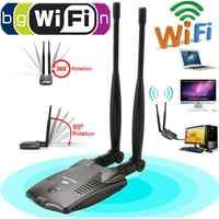 Drahtlose Freies Internet 3000mW wifi адаптер Mit USB Wifi Adapter Dual Antenne Adapter Decoder Ralink 3070 BT-N9100 Für Hause