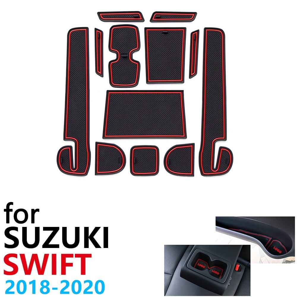 Противоскользящий резиновый коврик для подстаканника для Suzuki Swift 4 ZC33S 2018 2019 2020 Sport Dzire, автомобильные аксессуары, коврик для телефона