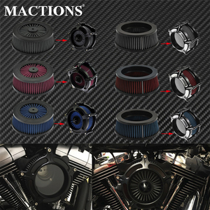 Image 1 - 1PC Motorcycle CNC Replacement Air Cleaner Intake Filter System Inner Element For Harley Sportster XL Touring Softail Dyna FXDLS