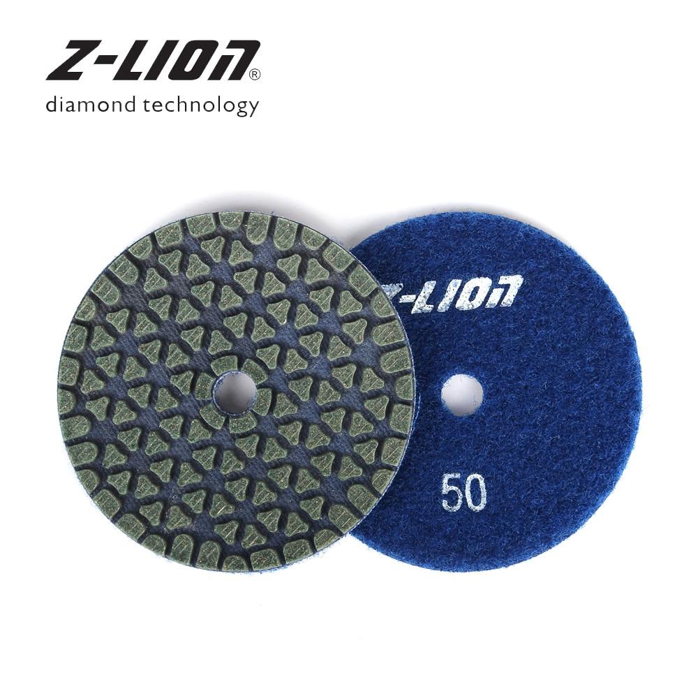 "4/"" Diamond Polishing Pad 18+1 PCS Grit 50 100 200 400 800 Granite Concrete Glass"