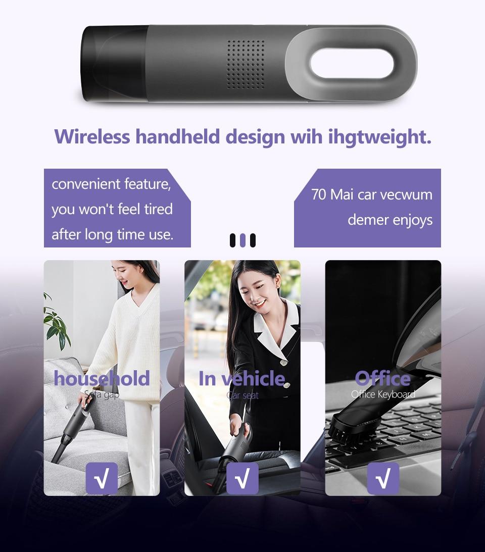 Xiaomi 70mai Midrive PV01 Mini Handheld Wireless Car Vacuum Cleaner 6