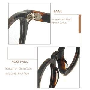 Image 5 - MenS Vintage עגול מסגרת אופטית מותג עיצוב קוריאה משקפיים לגברים נשים אצטט Eyewears קטן בינוני Gafas Miopia Hombre