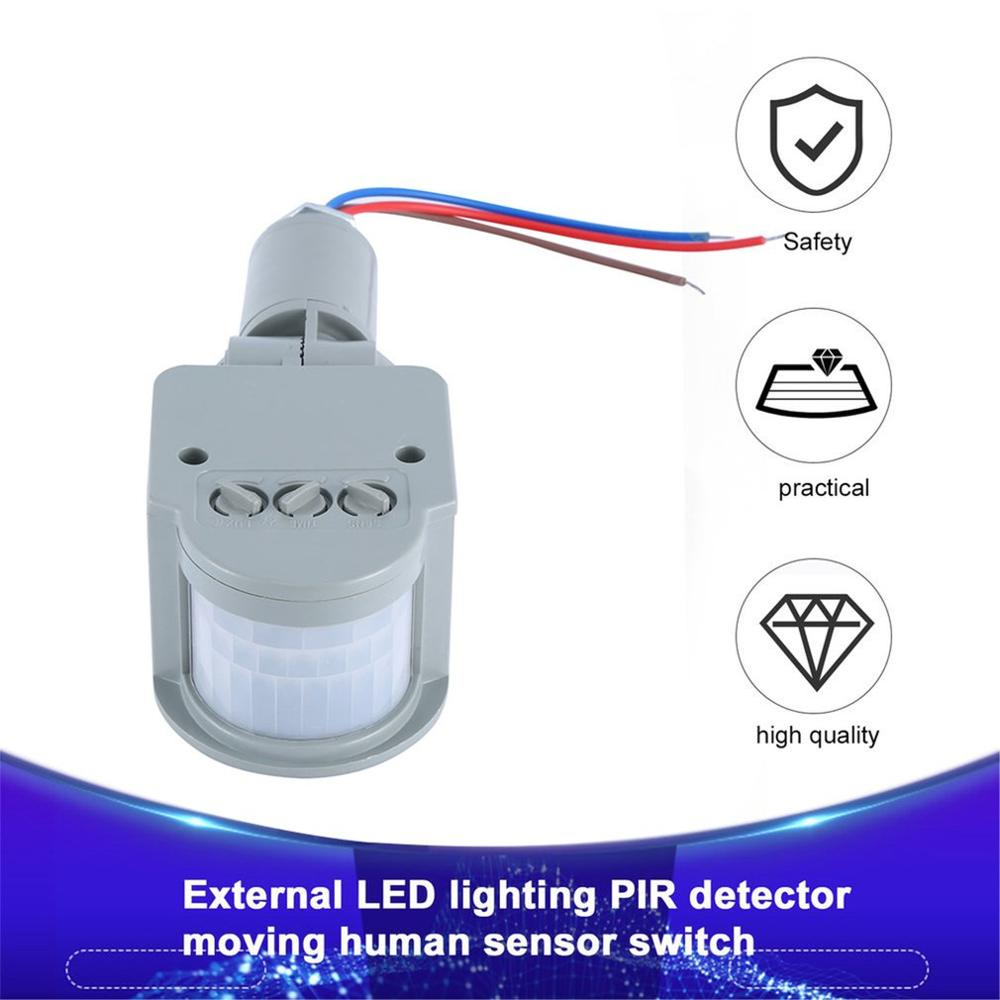Professional Motion Sensor Light Switch Outdoor AC 220V Automatic Infrared PIR Motion Sensor Switch With LED Light Household