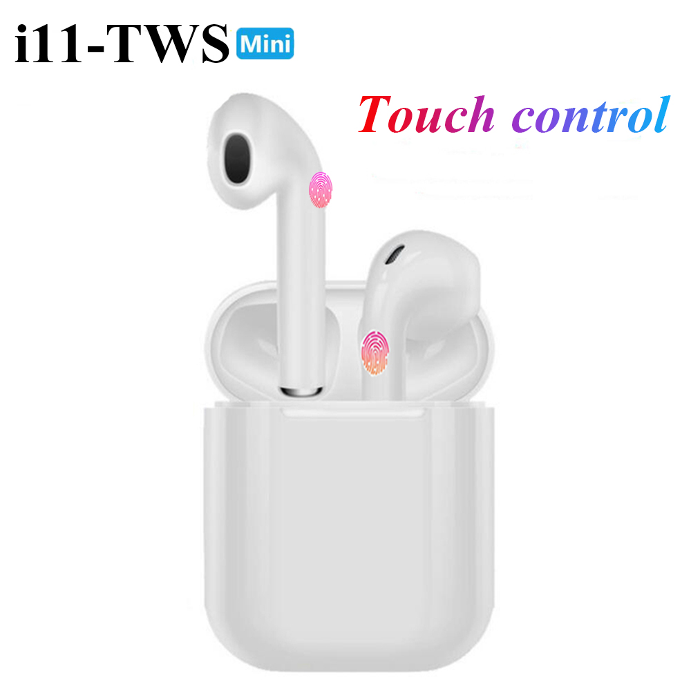 i11 <font><b>earphones</b></font> Touch <font><b>Bluetooth</b></font> <font><b>earphones</b></font> Stereo wireless headphones Sports headphones game headset for iphone Samsung Huawei image
