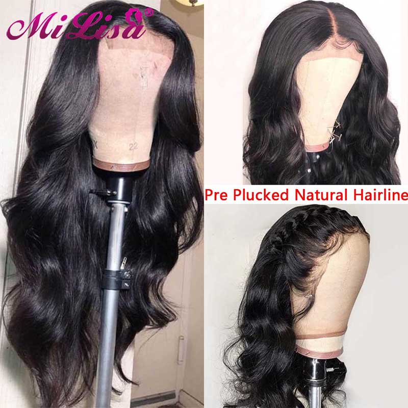 26 Inches Peruvian Body Wave Wigs Mi Lisa Remy Hair 150 Density Glueless Lace Front Human Hair Wigs Pre Plucked With Baby Hair