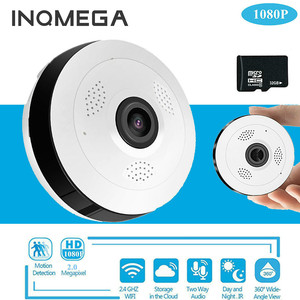 INQMEGA 360 Degree Panoramic IP Camera Wide Angle Smart Mini Portable Wifi Home Surveillance Hidden Camera for Android IOS
