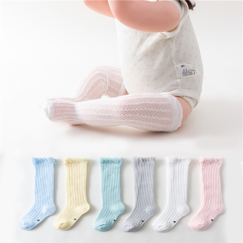 Baby Girl Socks 0-36 Months Toddler Cotton Summer Mesh Breathable Socks Newborn Infant Knee High Baby Boy Socks