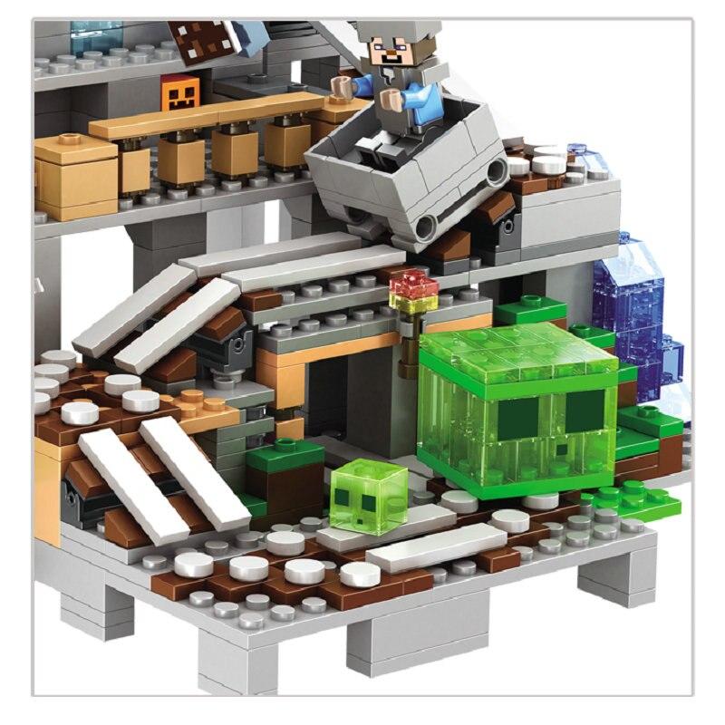 LOTE LA CUEVA DE MINECRAFT FIGURAS ESTILO LEGO bloques contruccion